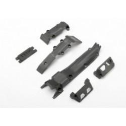 Set Placa protectie, fata (1)/ posterior (1)/ transmisie (1)/protectie servo-directie (2)/ placa acoperire servo-directie