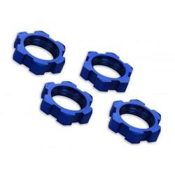 Piulite fixare roti 17mm eloxate albastru (4)