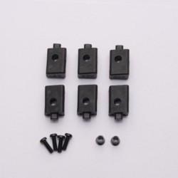 System fixare/montare servo 3x8mm BCS (2) si elemente de legatura/articulatii/fire