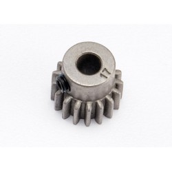 Pinion 17 dinti ( pas metric 0,8, compatibil cu pas 32) pentru ax de 5 mm / șurub de fixare