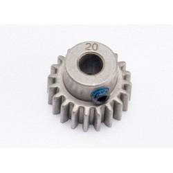 Pinion 20 dinti ( pas metric 0,8, compatibil cu pas 32)  pentru ax de 5 mm / șurub de fixare