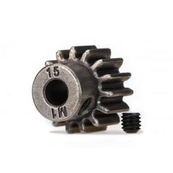 Pinion 15 dinti (pas metric 1) (pentru ax de 5 mm) / șurub de fixare