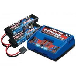 Pachet complet 2 acumulatori 7600mAh 7.4V 2 celule / 1 încărcător Dual iD