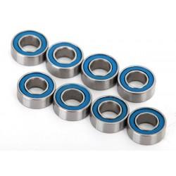 Rulmenti cu bile etansat cu cauciuc albastru (4x8x3mm) (8 buc)