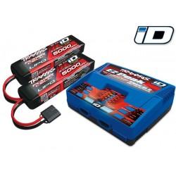 Pachet complet 2 acumulatori 5000mAh 11,1V  3 celule / 1 încărcător Dual iD