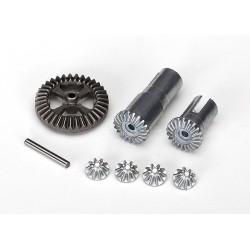 Set roti dintate metalice pentru diferential (roti de iesire (2)/ pinion (4)/ distantier, 35T/ax 2x14,8 mm (1)/ saibe (2)