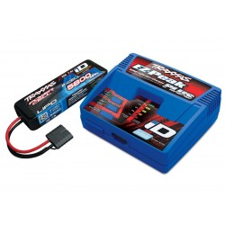 Pachet complet 1 acumulator 5800mAh, 7.4V cu 2 celule 25 C LiPo / Incarcator rapid EZ-Peak Plus 4 Amperi NiMH/LiPo
