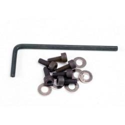 Suruburi cap plat imbus(3x8mm) (6 buc), saibe (6 buc), cheie imbus