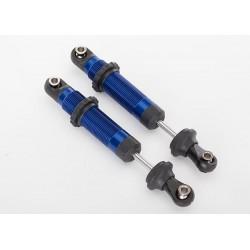 Amortizor GTS din aluminiu anodizat albastru cu opritoare arcuri (2 buc)