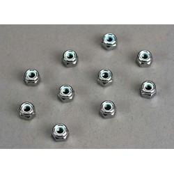 Piulite cu flansa antidesfacere din nylon de 4mm (10 buc)
