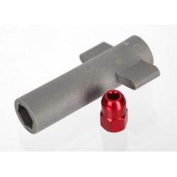 Piulita rosie de aluminiu si cheie antena
