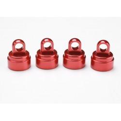 Capete amortizor rosii din aluminiu (4 buc)