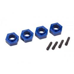 Hexagon prindere roti albatru din aluminiu (4 buc)