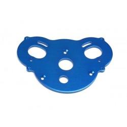 Roti albastre din aluminiu (2 buc) cu axe cu rulmenti si anvelope